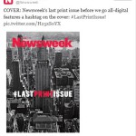 NEWSWEEK (version papier) : THE END