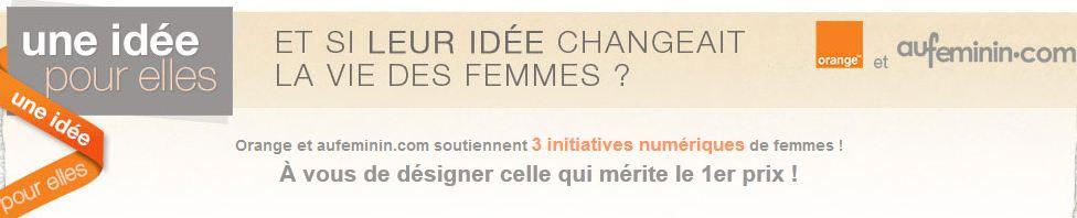 Odile Roujol (Orange) et Marie-Laure Sauty de Chalon (aufeminin.com) encouragent les créatrices du numérique
