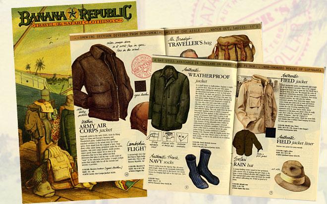 """Le catalogue Banana Republc, une """"légende"""" envoyé à 1 million de clients dans les années 80"""