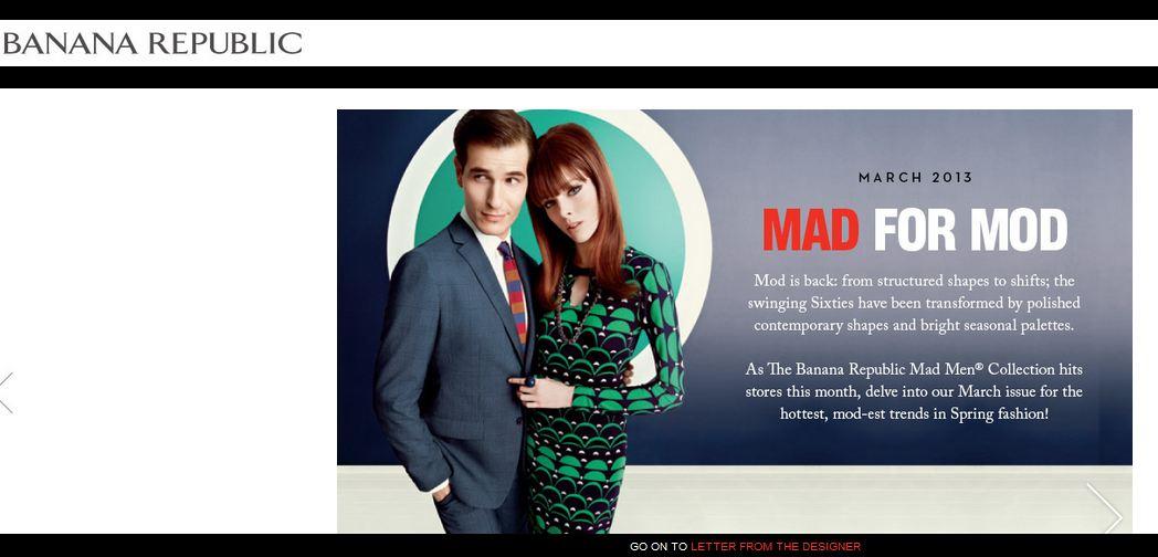 Page d'accueil du e-magazine