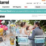 Crate and Barrel : des listes de mariage en web-to-store
