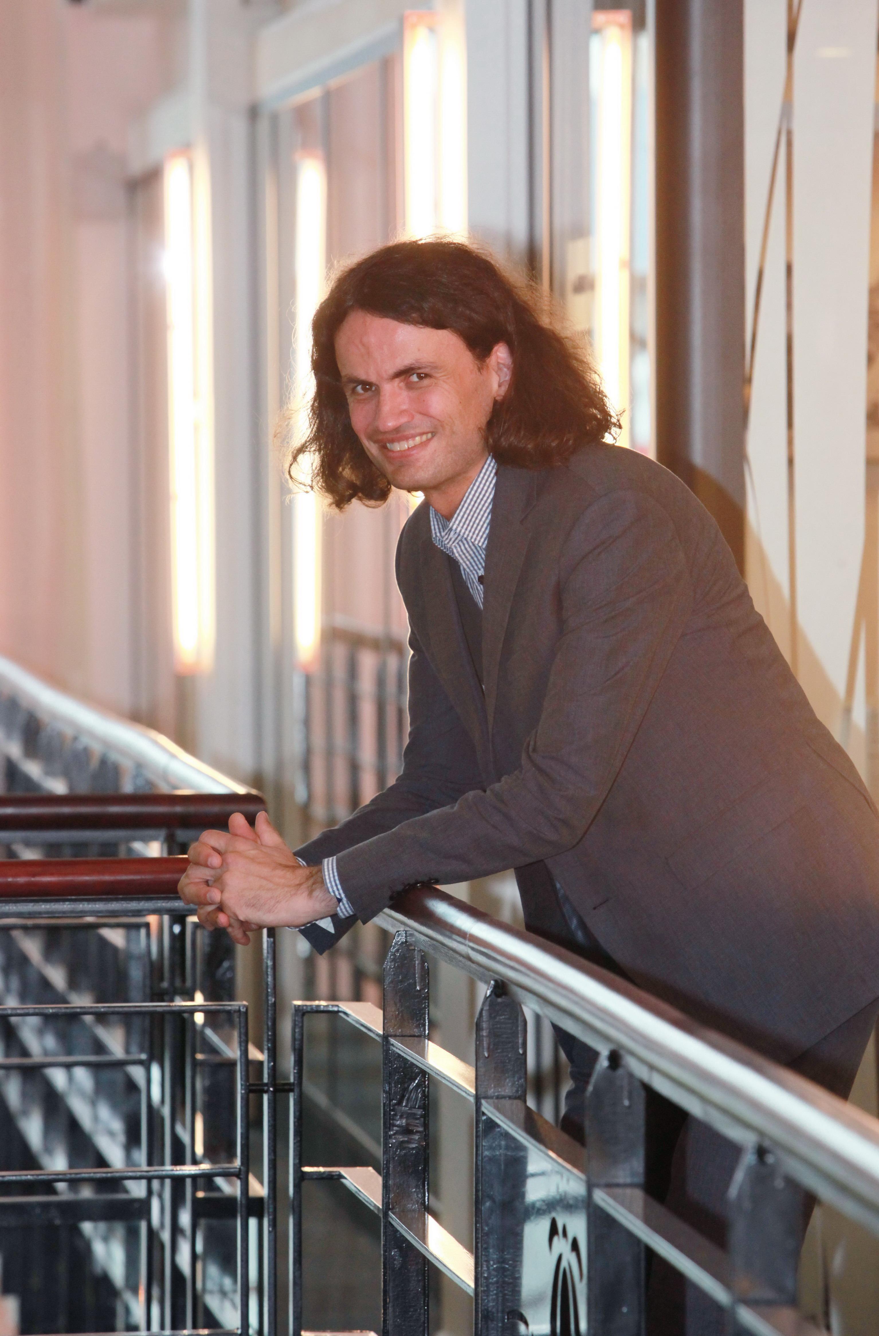 Pierre Jacobs, au siège de Générale de Téléphone.