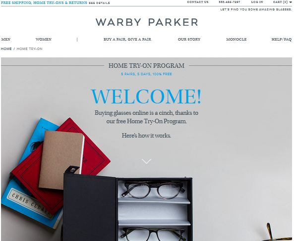 Home try Warby Parker