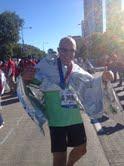 Un marathonien français sur la ligne d'arrivée…