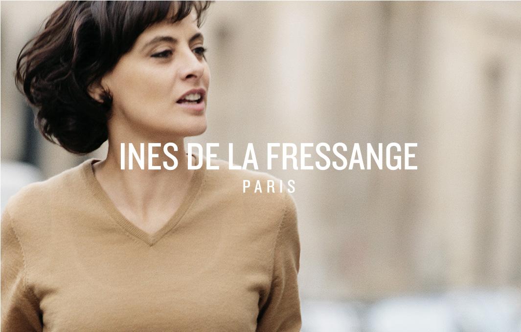 Page d'attente avant ouverture du site web Ines de la Fressange