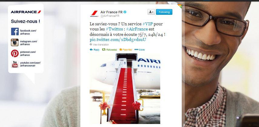 Air France sur Twitter 2