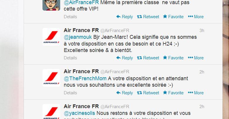 Air France sur Twitter 3