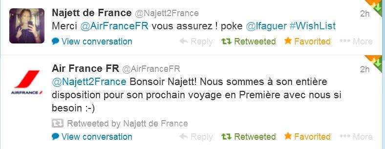 Air France sur Twitter 4