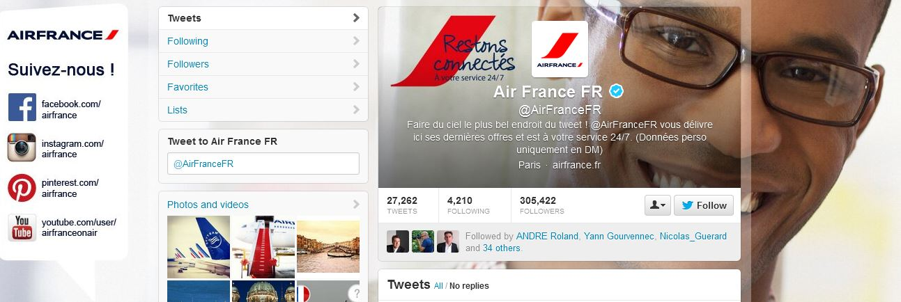 Air France, en pointe sur le Social Customer Service