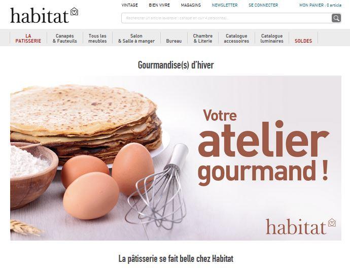 Habitat donne dans la pâtisserie
