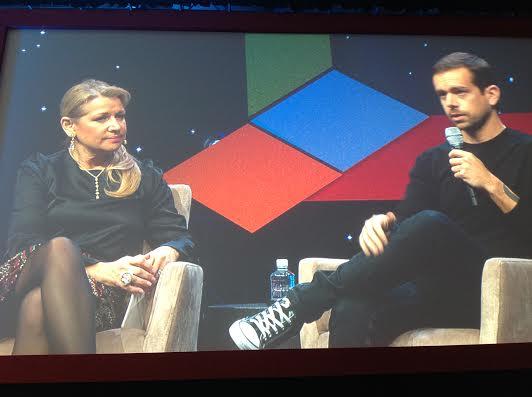 Jack Dorsey (CEO Square, Chairman Twitter) et Mindy Grossman (CEO HSNi)