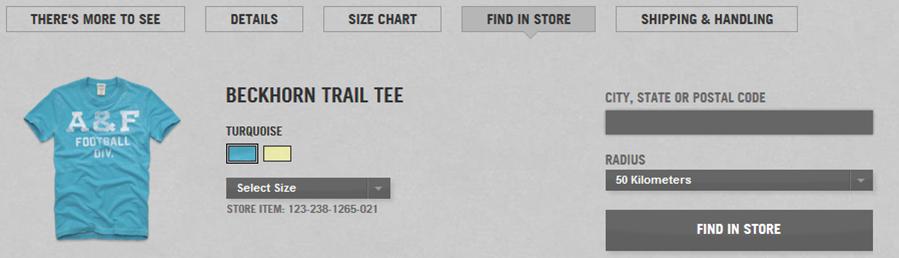 Disponibilité du stock dans le magasin de son choix, depuis le site web