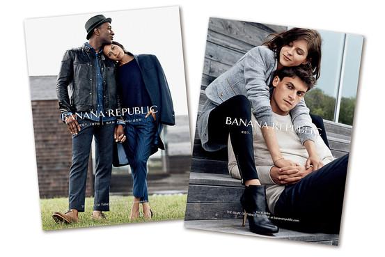La nouvelle campagne de Banana Republic, Fall 14', avec notamment Aloo Blac et sa femme