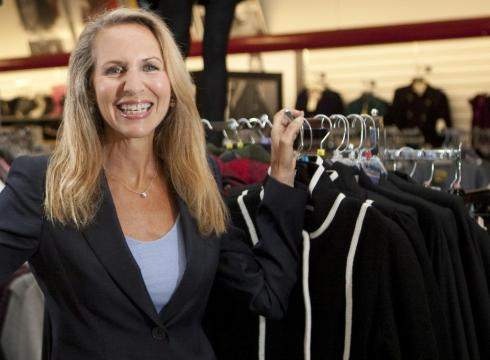 y Victoria Arocho, for USA TODAY TJX CEO Carol Meyrowitz, seen in a TJ Maxx store in Framingham, Mass., says 85% of what they sell is from the same season and same year it was designed for.