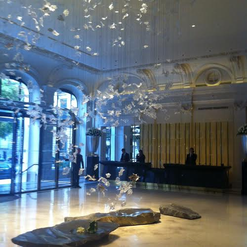 Lobby du Peninsula le jour de l'inauguration, Vendredi 1er Août 2014