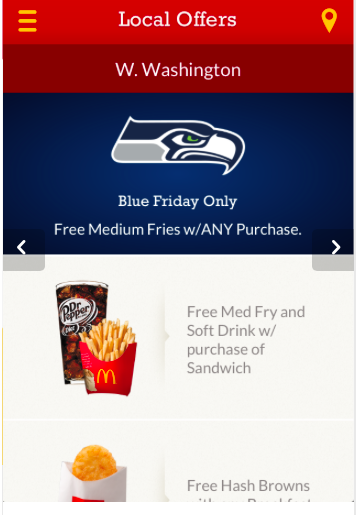 Un coupon Mobile (m-coupon) McDonald's US