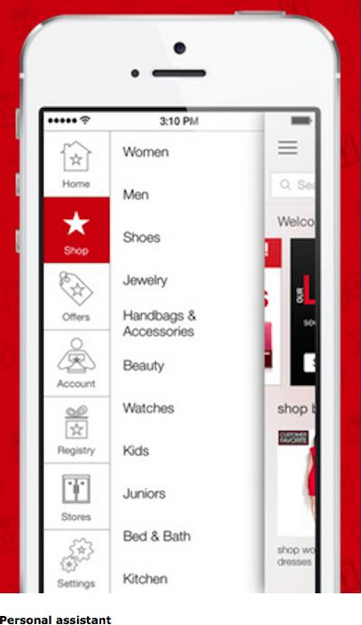 L'appli mobile de Macy's