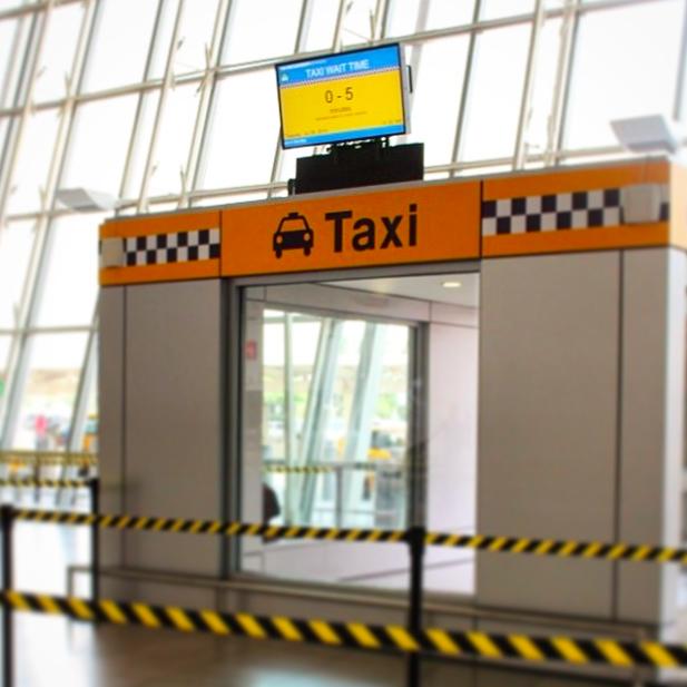 Le même service est rendu à la station de taxi - Photo JFKIAT