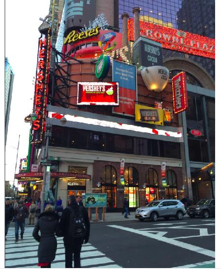 Pourquoi cette foule dans le magasin Hershey's de Times Square ?