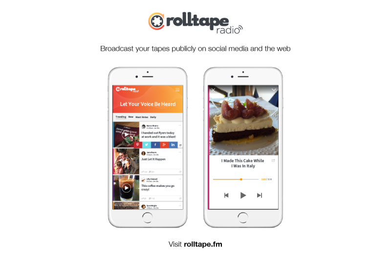 Rolltape made podcasting, both personal and public, as easy at 1-2-3