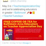 McDonald's  U.S. célèbre les professeurs avec des offres mobile géociblées