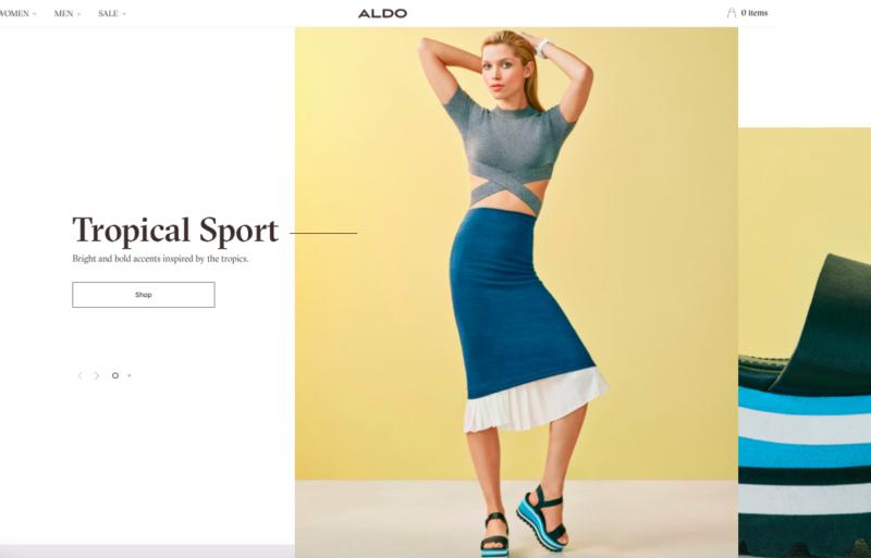 ALDO Group : un nouveau site contextuel pour un client mobile, social et magasin