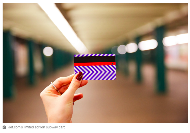 MetroCard… Comment Jet.com (Walmart) séduit-il les New-Yorkais?