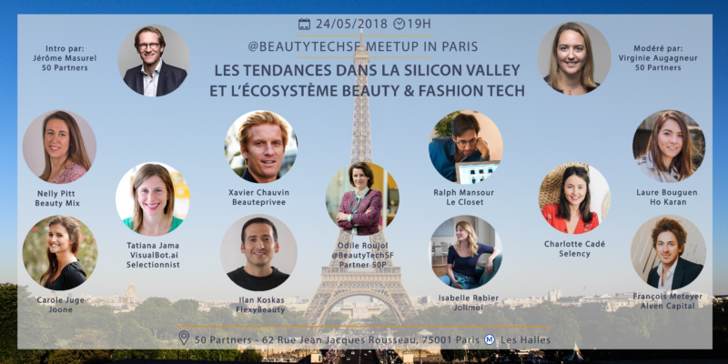 Event Beauty Tech à Paris – Après San Francisco, Odile Roujol organise le 1er meet up  @beautyTechFR chez @50Partners        ‪#Beauty‬‬‬ ‪#Fashion‬‬‬ ‪#Tech‬‬‬