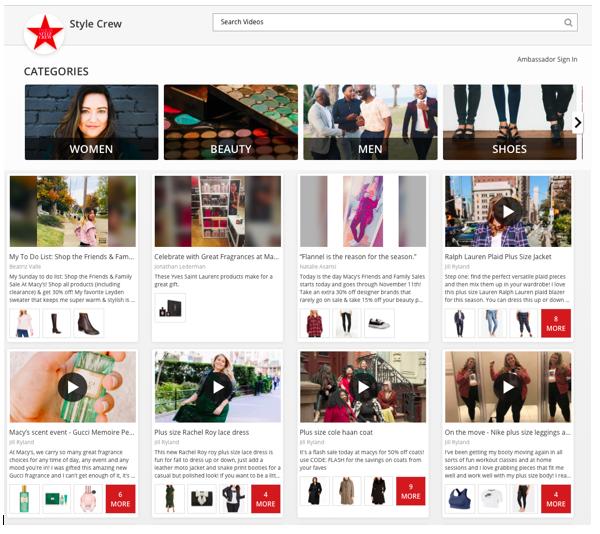 Tous les Chiffres de Style Crew, nouvelle Stratégie Micro Influenceurs de Macy's lancée avec TV Page