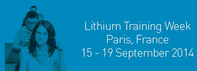 Lithium - Training Septembre 2014